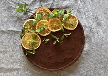 Burak Zafer'den Portakallı Çikolatalı Tart