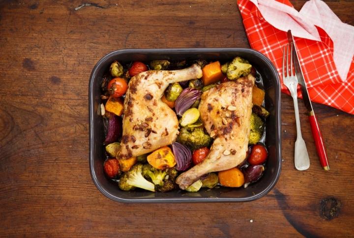 Brüksel Lahanası ve Bademli Tavuk