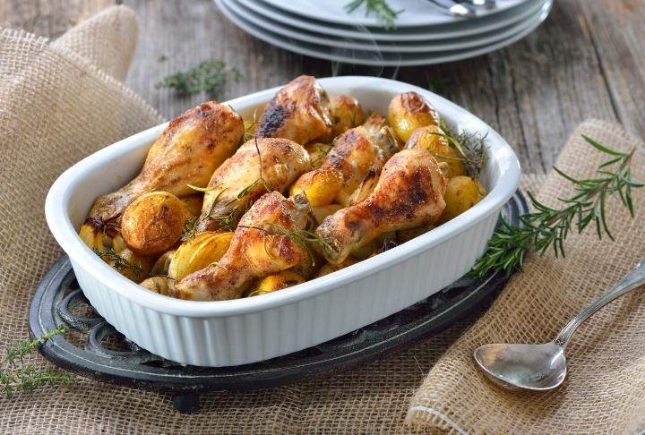 Fırında Kekikli Susamlı Yumuşacık Tavuk Baget