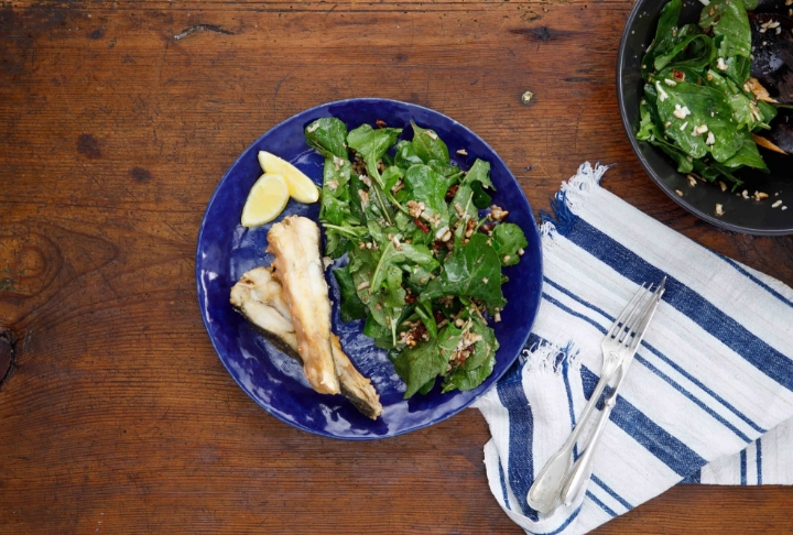 Kalkan Tava Balzamikli Roka Salatası
