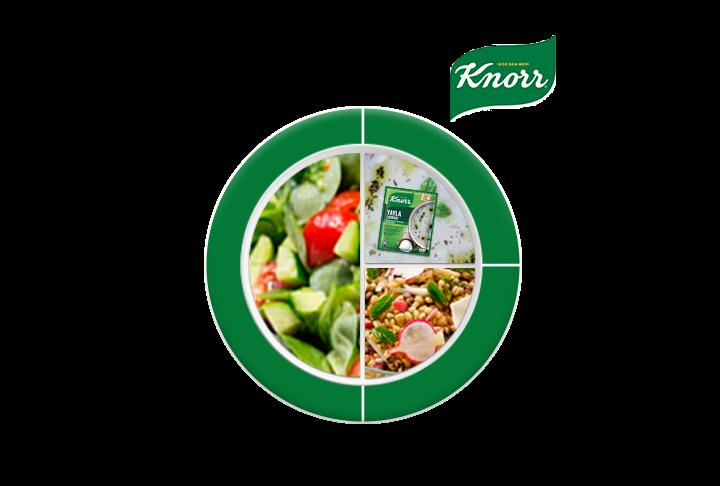 Knorr Yayla Çorbası ile Ayran Aşı Çorbası, Yeşil Mercimekli Buğday Pilavı, Semizotu Salatası