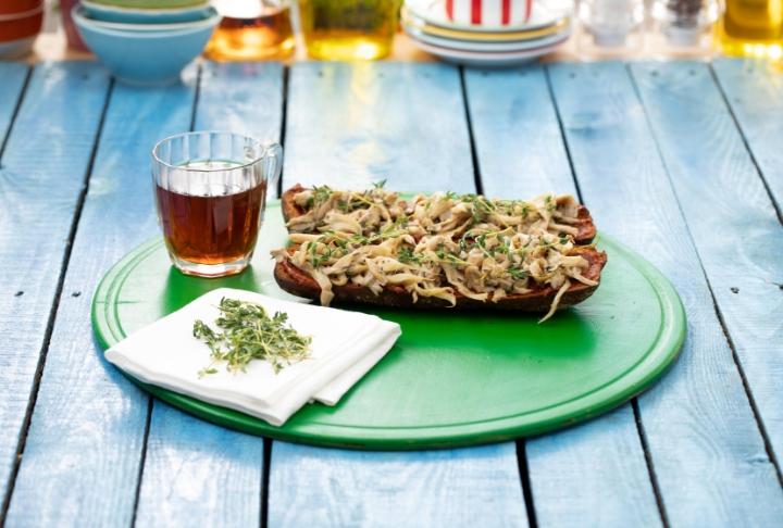 Mantarlı Acukalı Vegan Tost