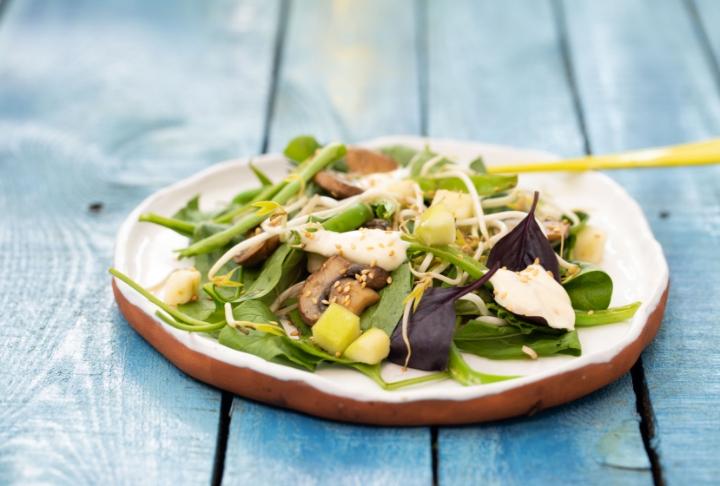Soya Filizli Sıcak Bahçe Salatası