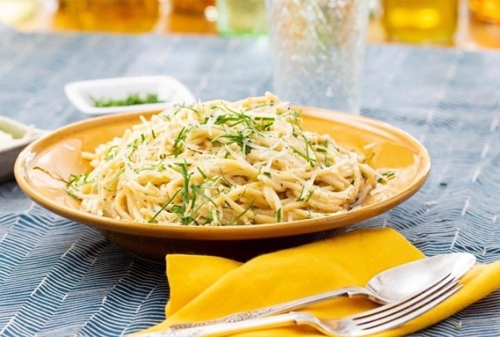 Kremalı Fesleğenli Spaghetti