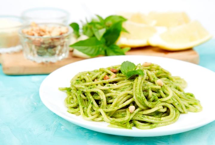 Yeşil Soslu Spaghetti