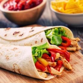 Barbekü Soslu Piliç Burrito