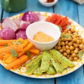 Fırınlanmış Sebzeler ve Kızıl Dip Sos
