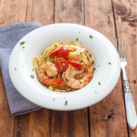 Kepekli Karidesli Spaghetti