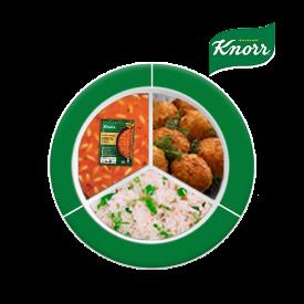 Knorr ile Besleyici Ramazan Tabakları: Çıtır Havuçlu Zencefilli Zerdeçallı Domates Çorbası, Balık Köfte, Bezelyeli Pilav