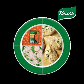 Knorr ile Besleyici Ramazan Tabakları: Çıtır Havuçlu Zencefilli Zerdeçallı Domates Çorbası, Beşamel Soslu Fırında Tavuk, Bezelyeli Pilav