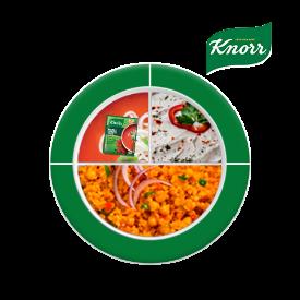 Knorr ile Besleyici Ramazan Tabakları: Krutonlu Kremalı Domates Çorbası, Haydari, Nohutlu Bulgur Pilavı