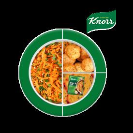 Knorr ile Besleyici Ramazan Tabakları: Knorr Biberli Ezogelin Çorbası, Tavuk Köfte, Havuç Salatası
