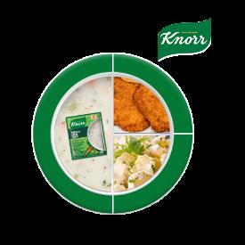 Knorr ile Besleyici Ramazan Tabakları: Taze Soğanlı Kremalı Sebze Çorbası, Tavuk Şnitzel, Patates Salatası
