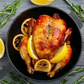 Fırında Kızarmış Tavuk ve Sebze