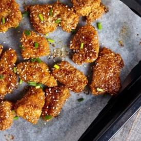 Soğan ve Biberli Çıtır Tavuk
